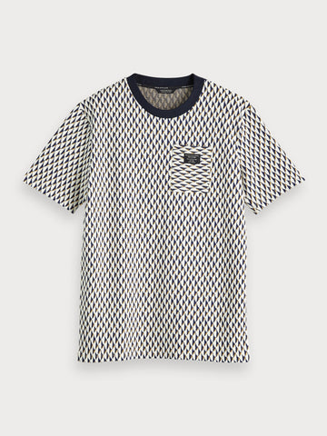 Patterned T-Shirt in Black
