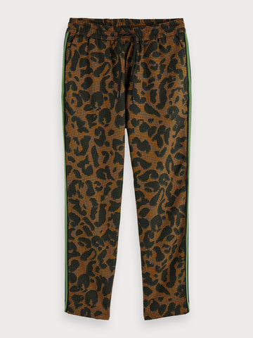 Printed Trousers | Regular straight fit in Black
