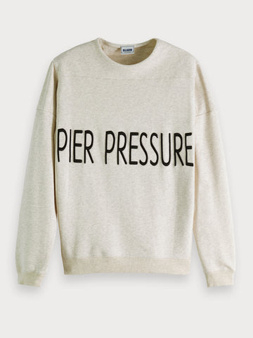 Pier Artwork Sweatshirt in Ecru
