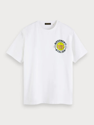 Cotton Artwork T-Shirt in White