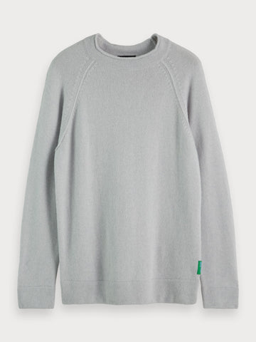 Basic Wool Blend Sweater in Grey