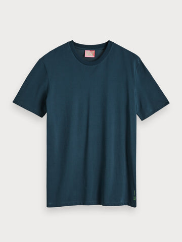 Basic Pique T-Shirt in Blue
