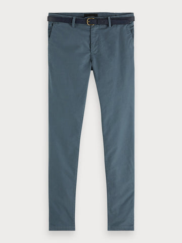 Mott - Garment Dyed Chinos | Super slim fit in Blue