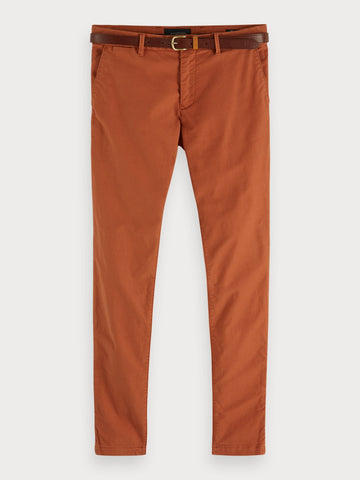 Mott - Garment Dyed Chinos | Super slim fit in Brown