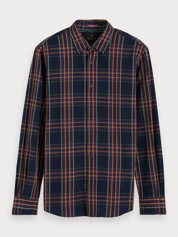 Plaid Cotton Shirt | Regular fit in Blue