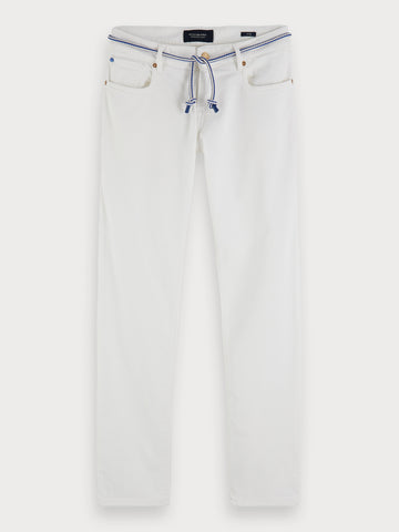 Tye - Summer White | Slim carrot fit in White