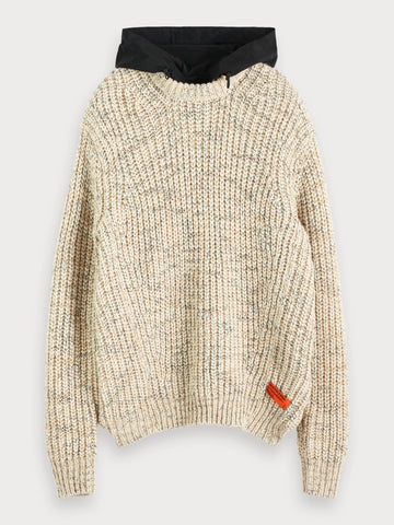 Hooded Sweater in Beige