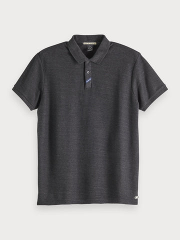 Cotton Polo in Grey