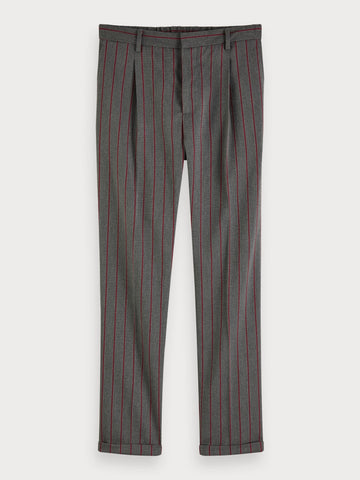 Blake - Patterned Trousers | Regular slim fit in Grey