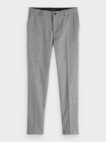 Stuart - Wool Blend Trousers | Regular slim fit in Grey