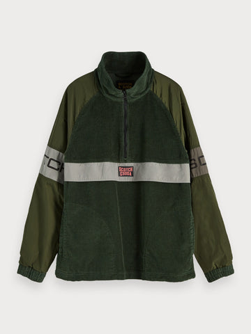 Mixed Anorak in Green