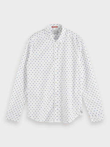 Printed Shirt | Slim fit in White