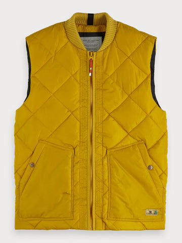 Quilted Bodywarmer in Yellow