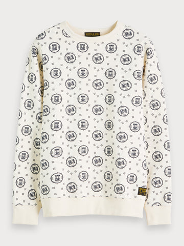 Printed Sweatshirt in White