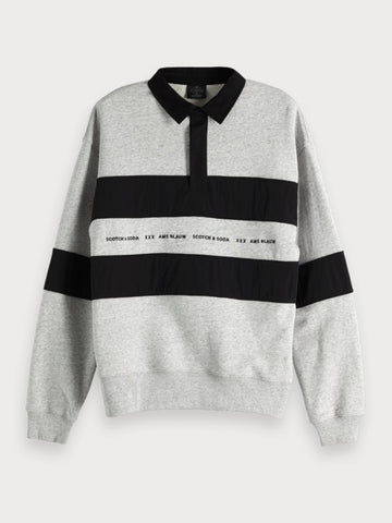 Polo Sweatshirt in Grey