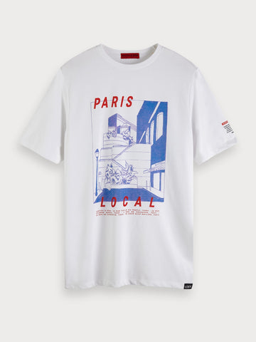 Printed Artwork T-Shirt in White
