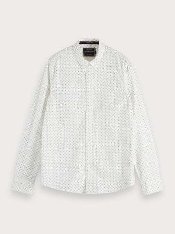 Printed Oxford Shirt | Regular fit in White