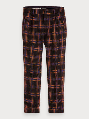 Wool Blend Trousers | Loose tapered fit in Black