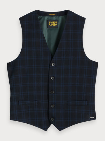 Structured Waistcoat in Black