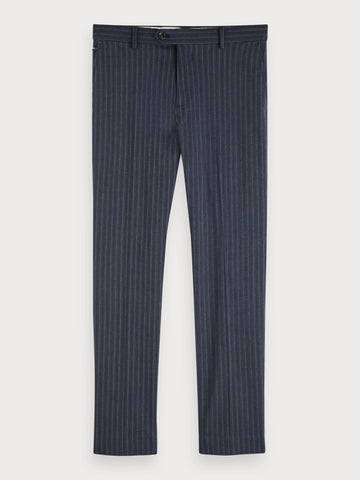 Mott - Stretch Cotton Trousers | Regular slim fit in Blue