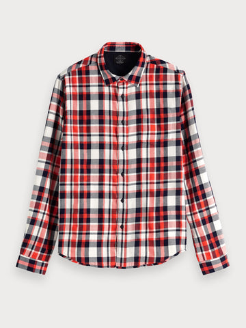 Checked Flannel Shirt | Regular fit in Red