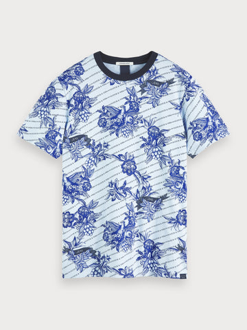 Printed T-Shirt in Blue