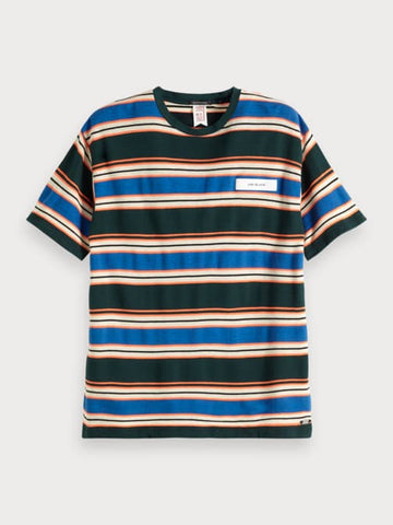 Colorfully Striped T-Shirt in Blue