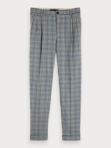 Twilt - Checked Trousers | Loose tapered fit in Blue