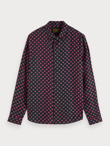 Logo Print Shirt in Black