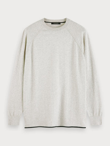 Cashmere Blend Sweater in Grey