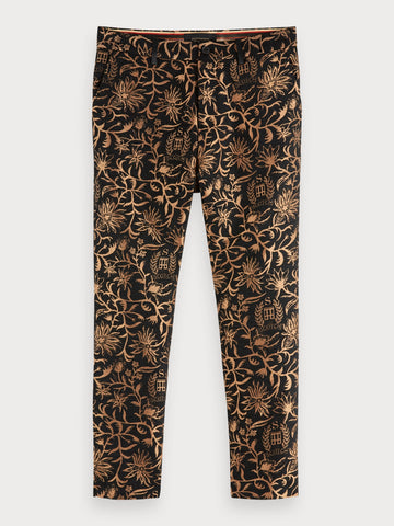 Jacquard Trousers | Loose tapered fit in Black