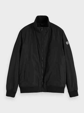 Short Nylon Jacket in Black