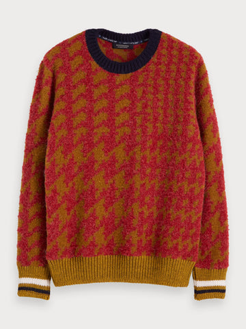 Brushed Wool-Blend Sweater in Brown