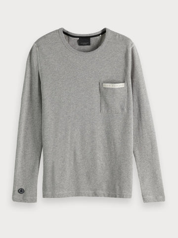 Chest Pocket Long-Sleeve in Grey