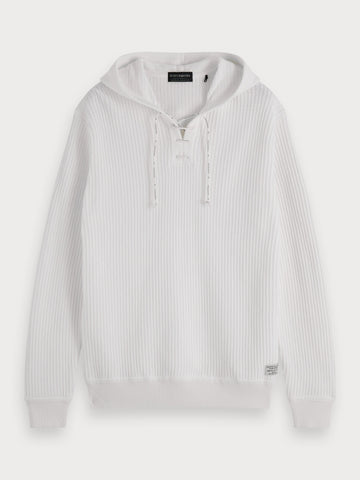Knitted Hoodie in White