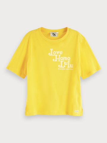 Organic Yellow Artwork T-Shirt in Bright Yellow