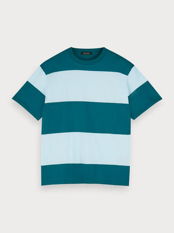 Striped Jersey T-Shirt in Blue