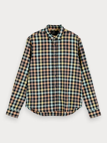 Checked Cotton Shirt | Regular fit in Multi