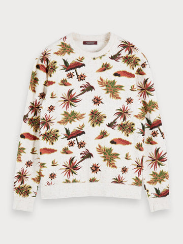 Nepped Printed Sweatshirt in Multicolour