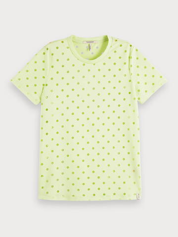 Burn-Out T-Shirt in Neon Lime