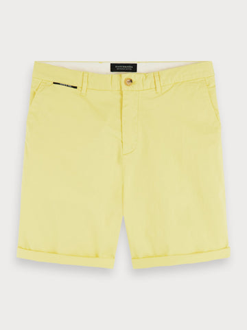 Pima Cotton Chino Shorts in Yellow