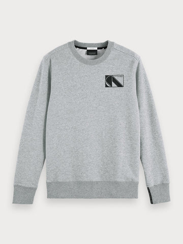 Sustainable Cotton Blend Long Sleeve Sweatshirt In Grey