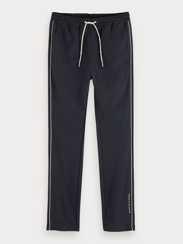 Soft 100% cotton mid-rise sweatpants in Midnight