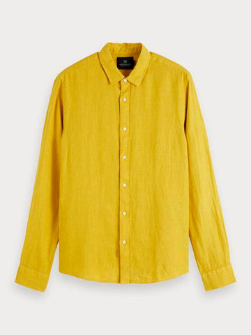 Linen Shirt | Regular fit in Yellow
