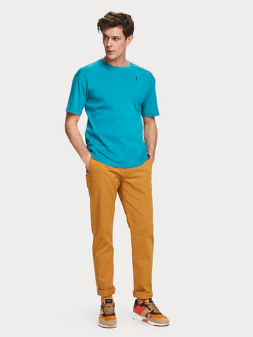 Stuart Stretch Chino Regular Slim-fit with Belt in Brown