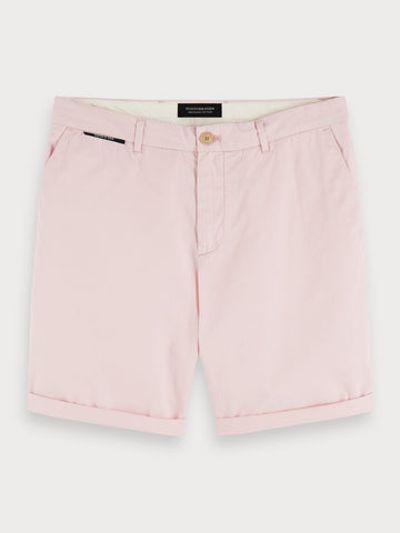 Pima Cotton Chino Shorts in Pink