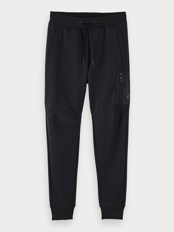 Cotton-Blend Patch Pocket Sweatpants In Black