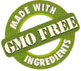 Made with GMO Free ingredients