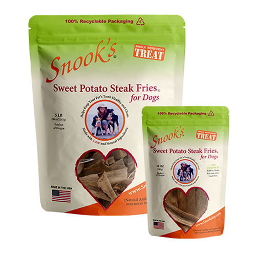 Sweet Potato Steak Fries for Dogs - made from GMO Free dried golden sweet potatoes.