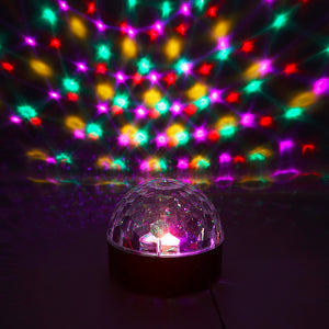 1pc 2017 NEW RGB LED Crystal Magic Ball Stage Effect Lighting Lamp Party Disco Club DJ Bar Light Show 100-240V US Plug - Kesheng special effect equipment